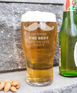 Moustache A Personalised Pint Glass