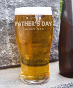 Personalised Father's Day Beer Glass