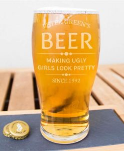 The Beer Goggles Pint Glass