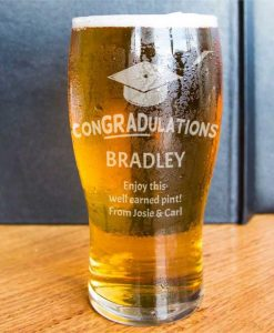 Graduation Pint Glass