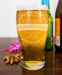 Groom's Father Pint Glass