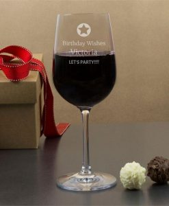 You're a Star Personalised Wine Glasses
