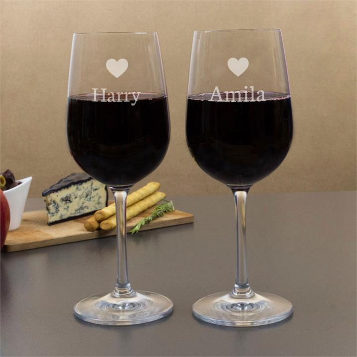 Our Hearts Combined Wine Glasses