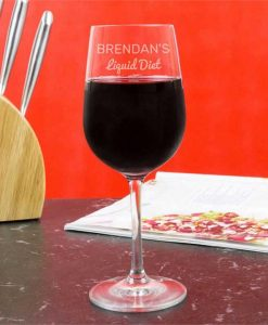 Personalised Liquid Diet Wine Glasses