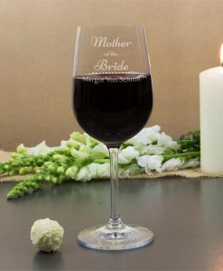 Bride's Mother Personalised Wine Glasses