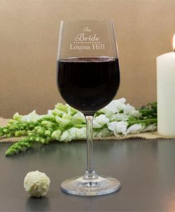 The Bride's Personalised Wine Glasses