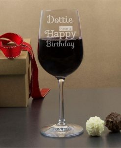 Personalised Happy Birthday Wine Glasses