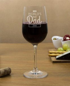 Personalised World's Best Dad Wine Glasses