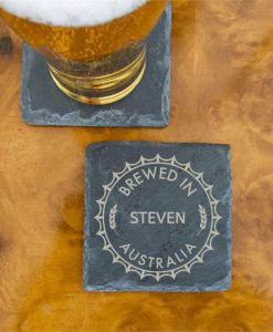 Coasters for a True Blue and His Brew