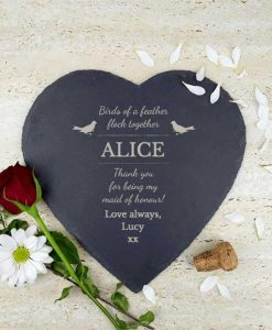 Maid Of Honour Slate Heart