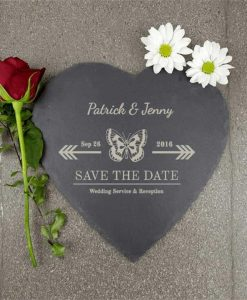 Event Invitation Slate Heart