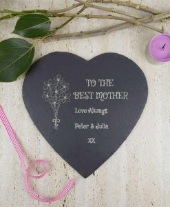Best Mother Slate Heart