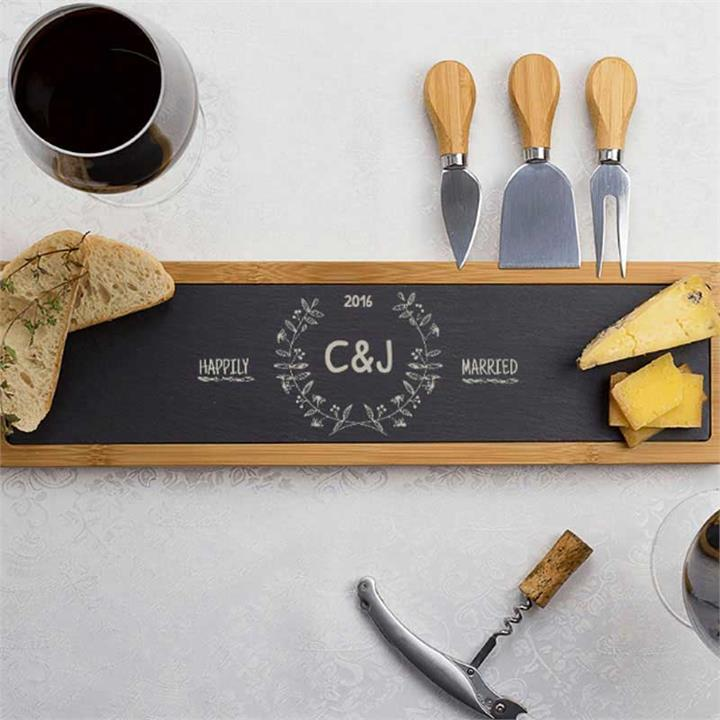 Happily Married Personalised Cheese Board