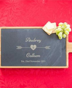 Personalised 'Straight to the Heart' Serving Board