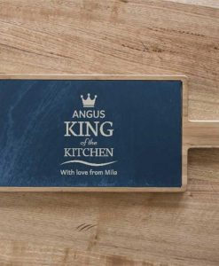 King of the Kitchen Personalised Serving Board