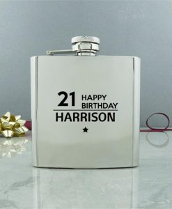 Happy Birthday Conventional Hip Flask