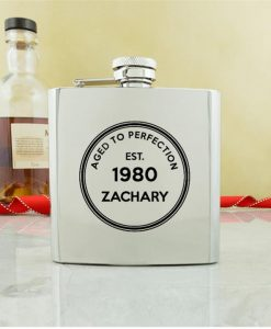 Personalised Birthday Conventional Hip Flask