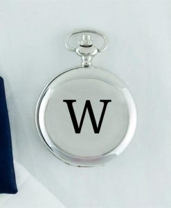 Initial Silver Covered Pocket Watch