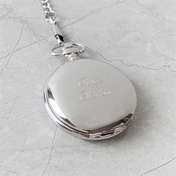 Traditional Engraved Silver Covered Pocket Watch