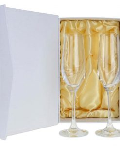 Crystal Champagne Flute Pair