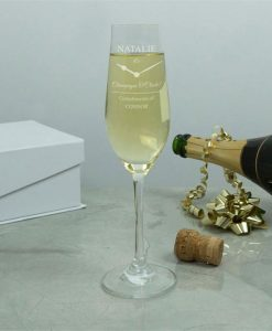Champagne O'clock Personalised Crystal Flutes