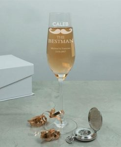 The Best Man Personalised Crystal Flute