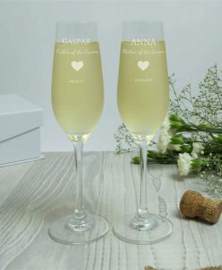 Mother And Father Of The Groom Personalised Crystal Flute