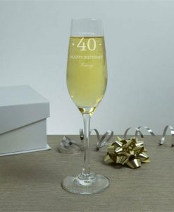 Special Birthday Personalised Crystal Flute