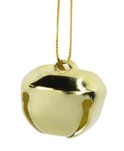 30 Pack Gold Iron Bells Hanging Ornament - 3.2cm
