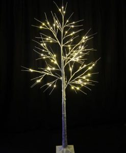 Birch Tree with 96 Warm White LED Lights - 1.8m