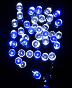 1000 Blue & White LED String Light - 50m