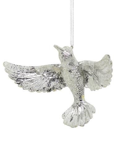 Silver Bird Hanging Ornament - 9cm