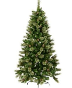 Dawn Light Dew Christmas Tree with Pinecones - 2.3m