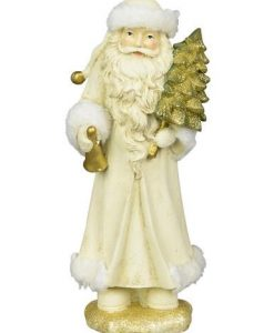 Traditional Father Christmas Standing Ornament - 24cm