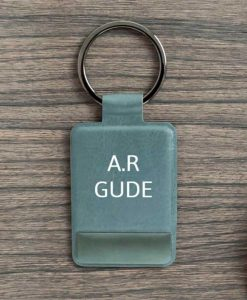 Personalised Grey Key Ring