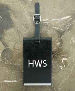 Black Personalised Initials Luggage Tag