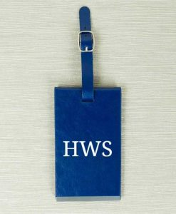 Blue Personalised Initials Luggage Tag