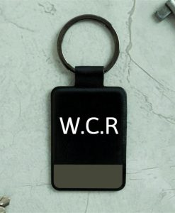 Monogram Black Key Ring