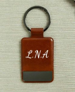 Monogram Brown Key Ring