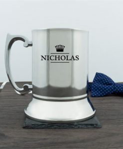 Personalised Crown Traditional Tankard