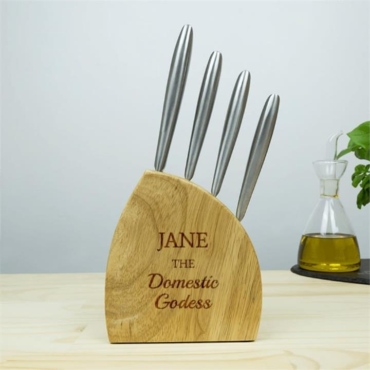 Domestic Goddess 4pc Stainless Knife Set