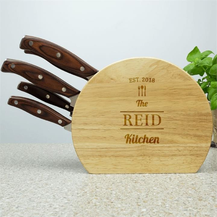 Personalised Family 5pc Wooden Knife Set