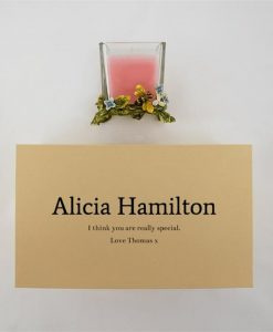 Intricate Personalised Pink Candle