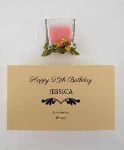 Pink Candle Personalised For All Occasions
