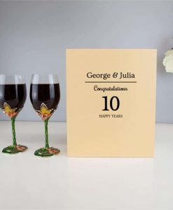 Personalised Butterfly Crystal Wine Glasses