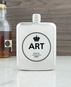 Crown Contemporary Hip Flask