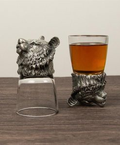 Lion Personalised Shot Glass Set