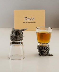 Owl Personalised Shot Glasses