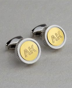 Treaded Engraved Cufflinks