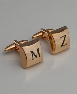 Rose Gold Personalised Cufflinks